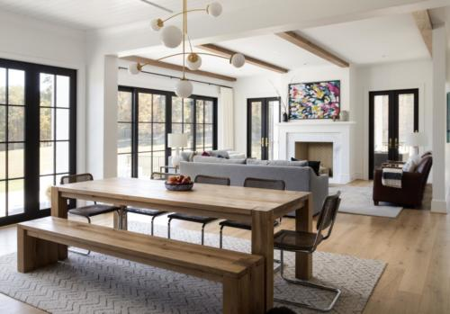 Mid-Century Farmhouse - Family Room & Breakfast table